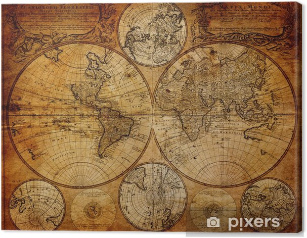 Old map(1746) Canvas Print -