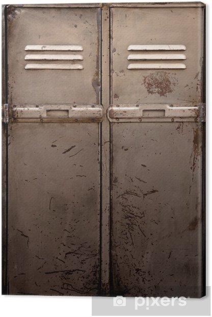 Old metal locker Canvas Print - iStaging