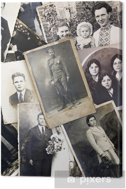 Old photos background Canvas Print - Styles