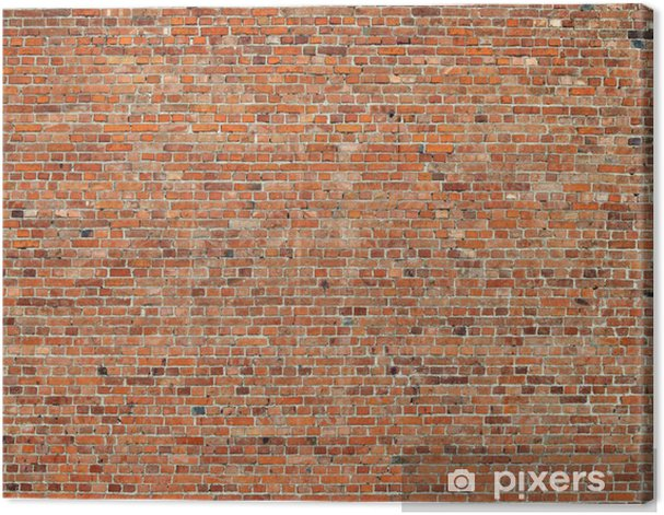 Old red brick wall background Canvas Print - Themes