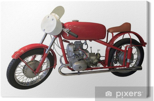 old red sport bike Canvas Print - Themes