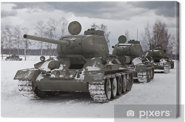 Old Russian Tanks Canvas Print - Themes