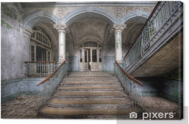 Old stairs in Beelitz Canvas Print - Themes