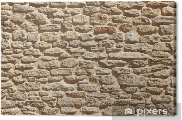 Old stone wall background Canvas Print - Styles