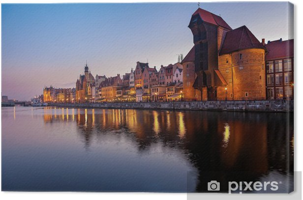 Old Town in Gdansk, Poland. Canvas Print - Themes