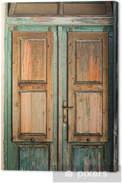 Old wooden door Canvas Print • Pixers® • We live to change