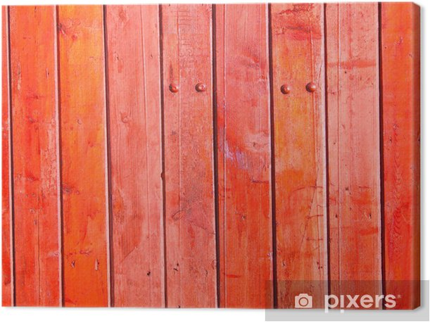 Old wooden fence Canvas Print - Heavy Industry