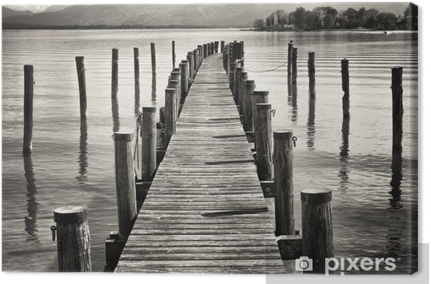 old wooden jetty Canvas Print - Styles