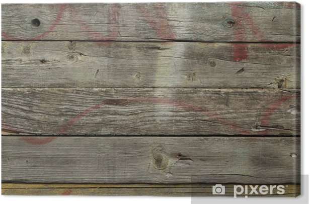 old wooden planks abstract background Canvas Print - Textures
