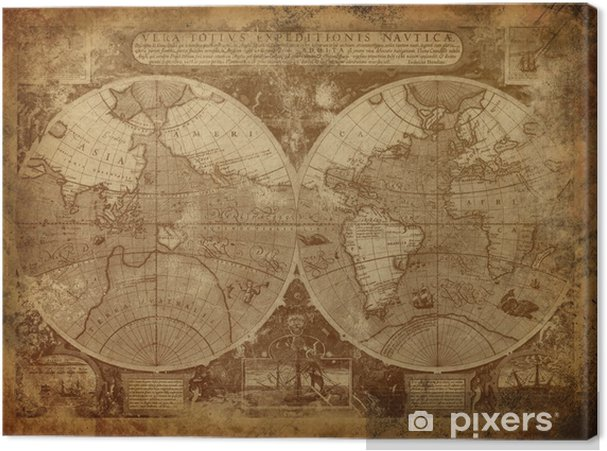 Old World Map Canvas.Old World Map Canvas Print Pixers We Live To Change