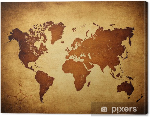 old world map Canvas Print - Themes