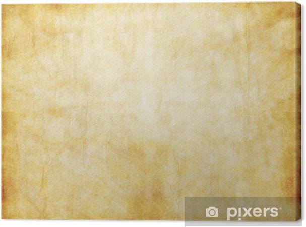 old yellow brown vintage parchment paper texture canvas print