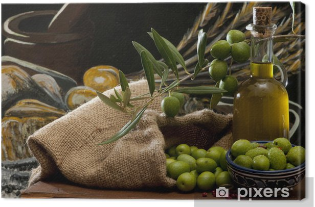 olives and oil Canvas Print - Olives