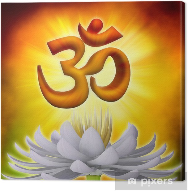 OM Symbol Canvas Print - Buddhism