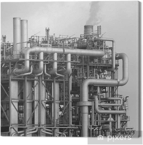 OMV Raffinerie Canvas Print - Industrial and Commercial Buildings