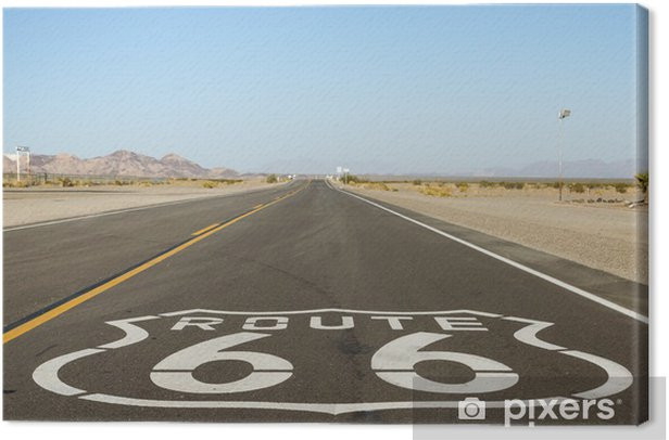 On Route 66 Canvas Print - Themes