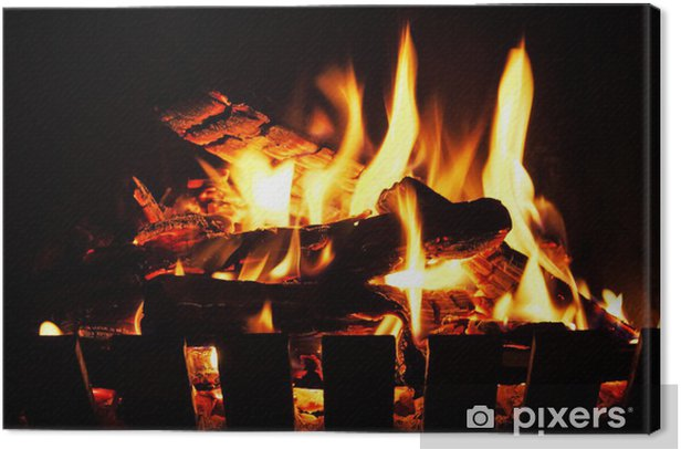 open fire Canvas Print - Themes