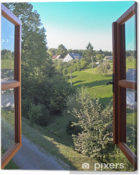 Open window Canvas Print - Countryside