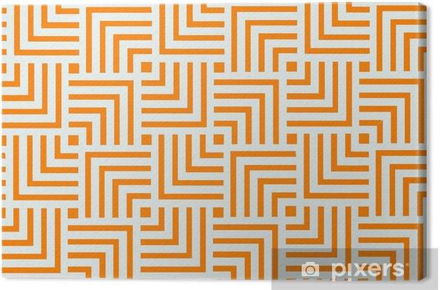 Orange geometric pattern background design | Abstract modern art decorative Canvas Print - Graphic Resources