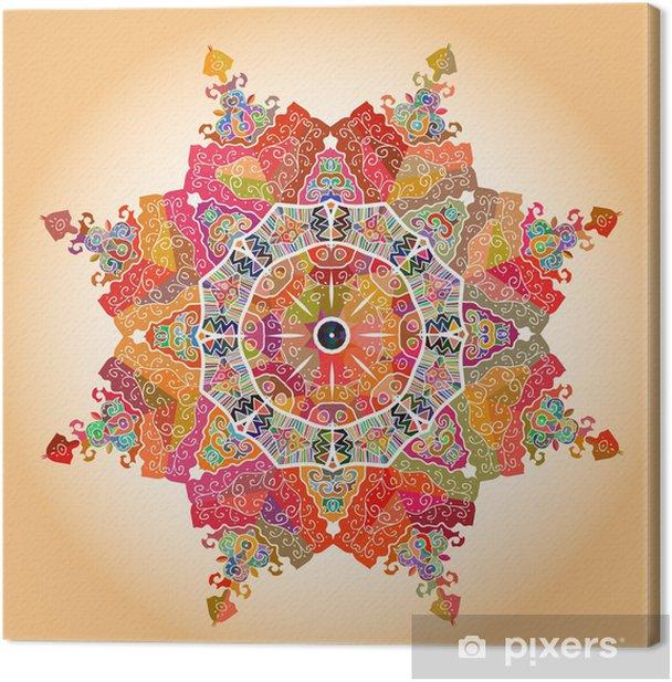 Oriental mandala motif Canvas Print -