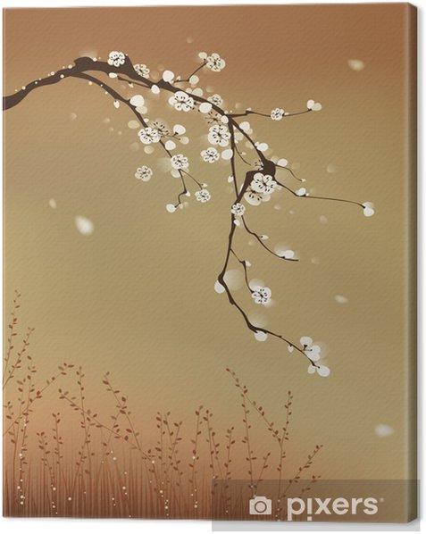 oriental style painting, plum blossom Canvas Print - Styles
