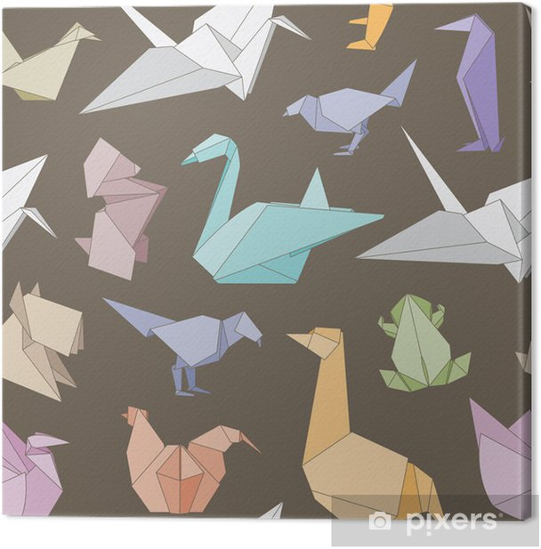 Origami Animals Seamless Pattern Canvas Print Pixers We Live To Change