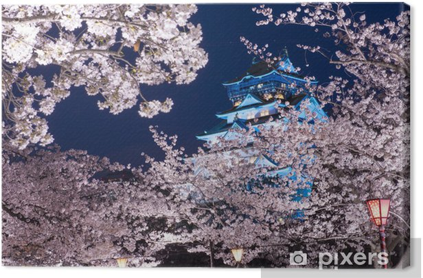 Osaka Castle, Osaka, Japan in the Spring Canvas Print - Styles