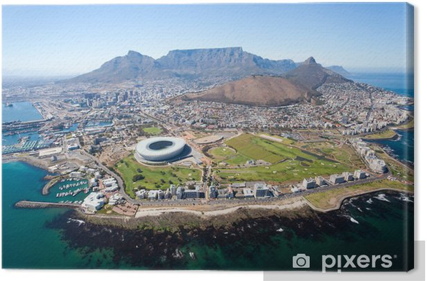 overall aerial view of Cape Town, South Africa Canvas Print - Destinations