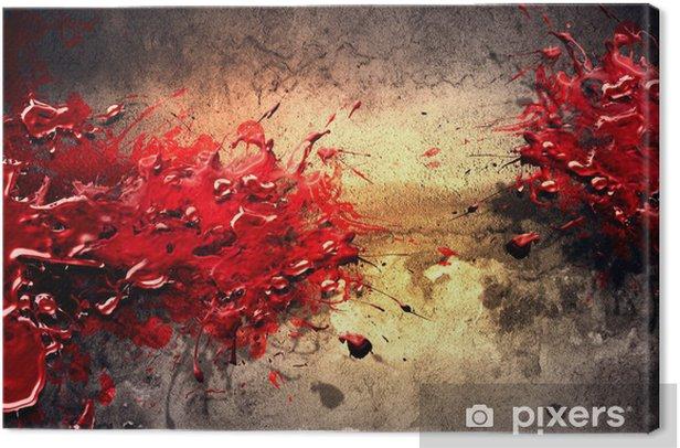 Paint Splatter Canvas Print -