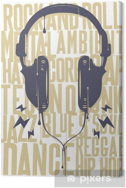 Painted Headphones Canvas Print - Hip Hop