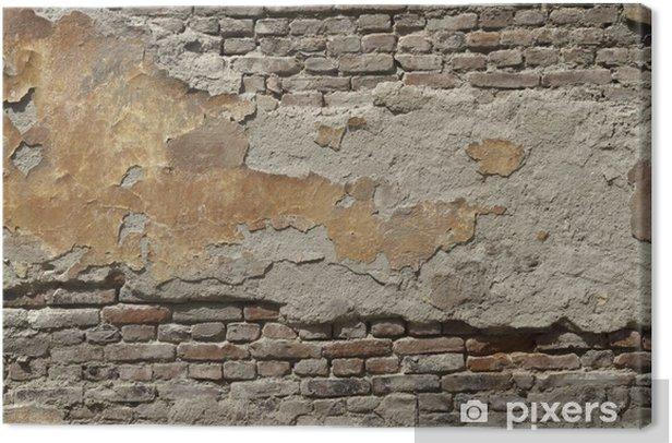 Painted old brick wall Canvas Print - Themes