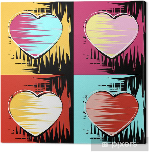 Painting In The Style Of Andy Warhol Canvas Print Pixers We Live To Change