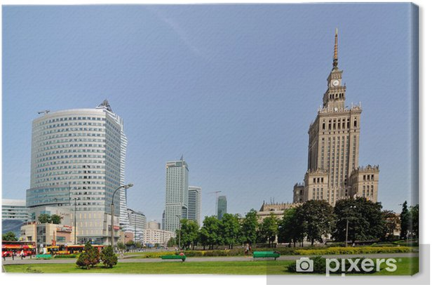Palace of Culture, Warsaw, Poland Canvas Print - Themes