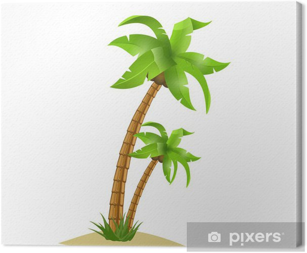 Palm tree Canvas Print - Wall decals