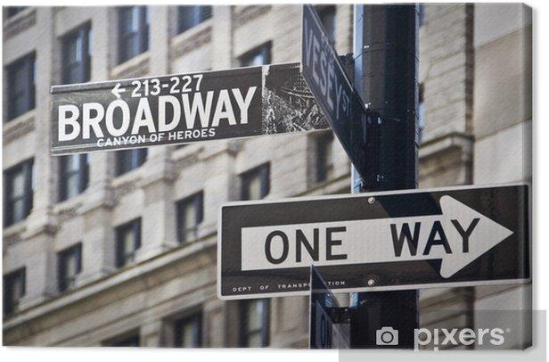 Panneau Broadway à New-York Canvas Print - Themes