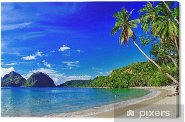 panoramic beautiful beach scenery - El-nido,palawan Canvas Print - Themes