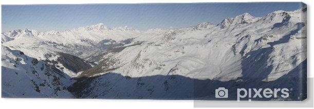 Panoramic du mont blanc Canvas Print - Seasons