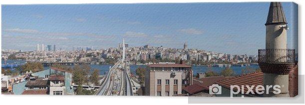 panoramic view on Istanbul, Turkey Canvas Print - Urban