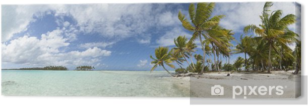 Paradise beach panoramic view Canvas Print - Themes