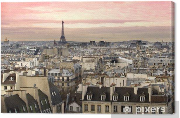 Paris Aussicht Eiffelturm Canvas Print - Themes