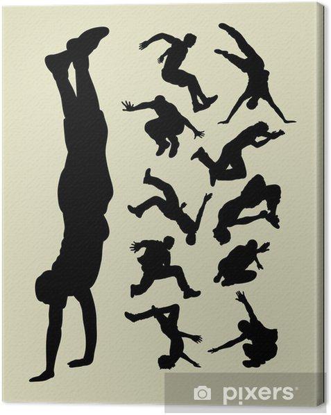 Parkour Silhouettes Canvas Print - Team Sports