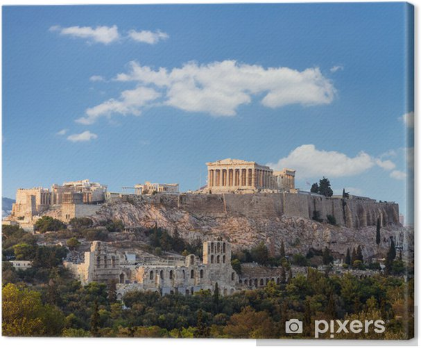 Parthenon, Akropolis - Athens, Greece Canvas Print - Themes