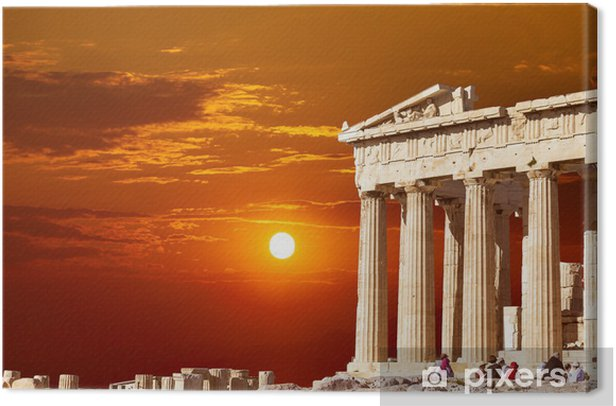 Parthenon temple on the Athenian Acropolis, Greece Canvas Print - Styles