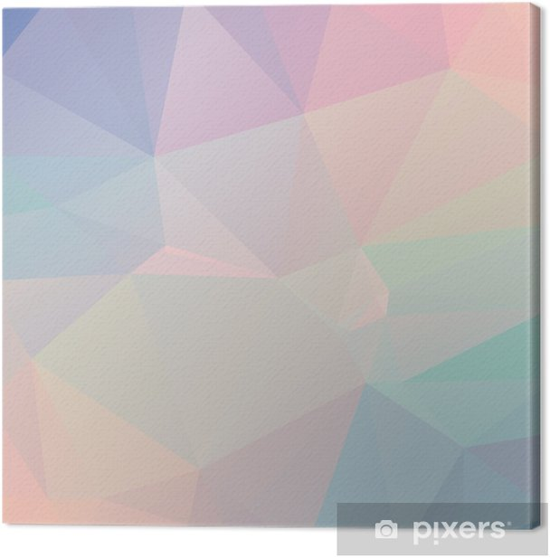 Pastel Polygon Geometric Canvas Print - Themes