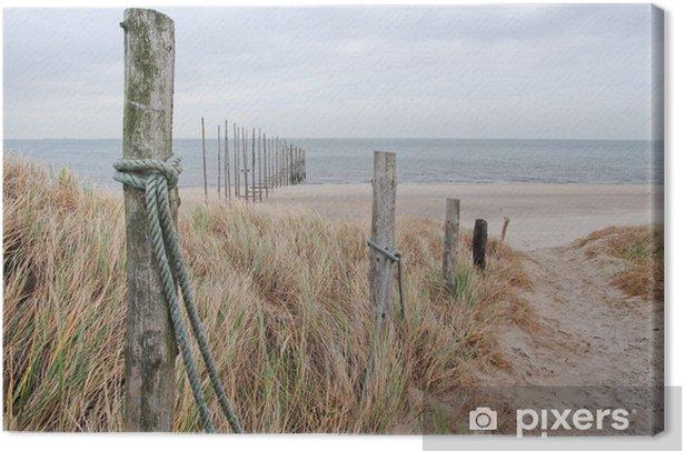 path to beach Canvas Print - Destinations