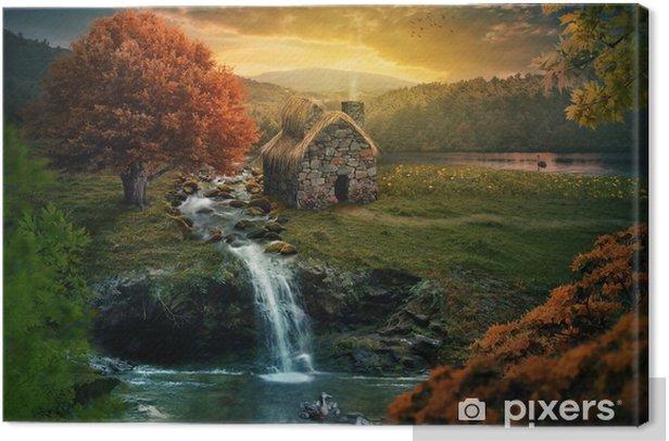 Peaceful cottage Canvas Print - Landscapes