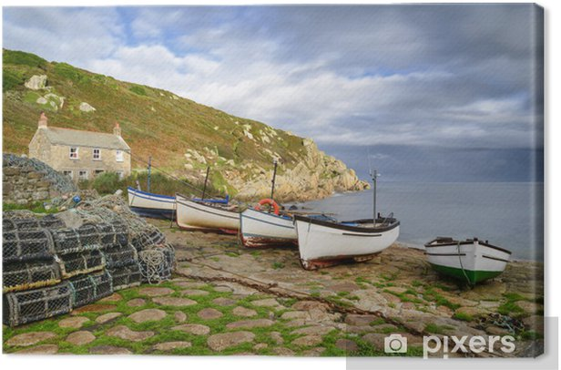 Penberth Cove in Cornwall Canvas Print - Europe