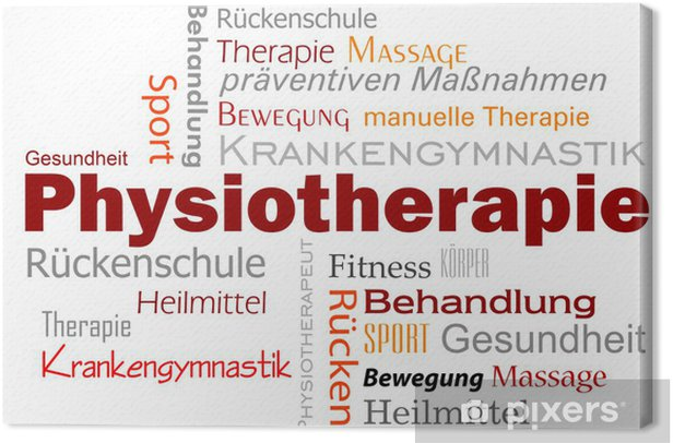 Physiotherapie Wörter Text Canvas Print - Lifestyle>Body Care and Beauty