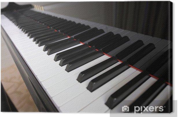 piano keyboard Canvas Print - Music