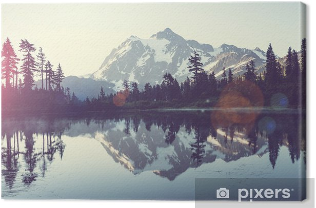 Picturesque lake Canvas Print - iStaging